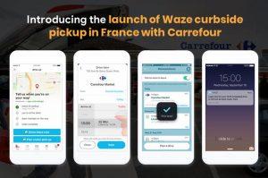 présentation du service entre Carrefour et Waze stratégie Web-to-store