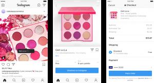 fonctionnement de la fonctionnalité checkout sur Instagram