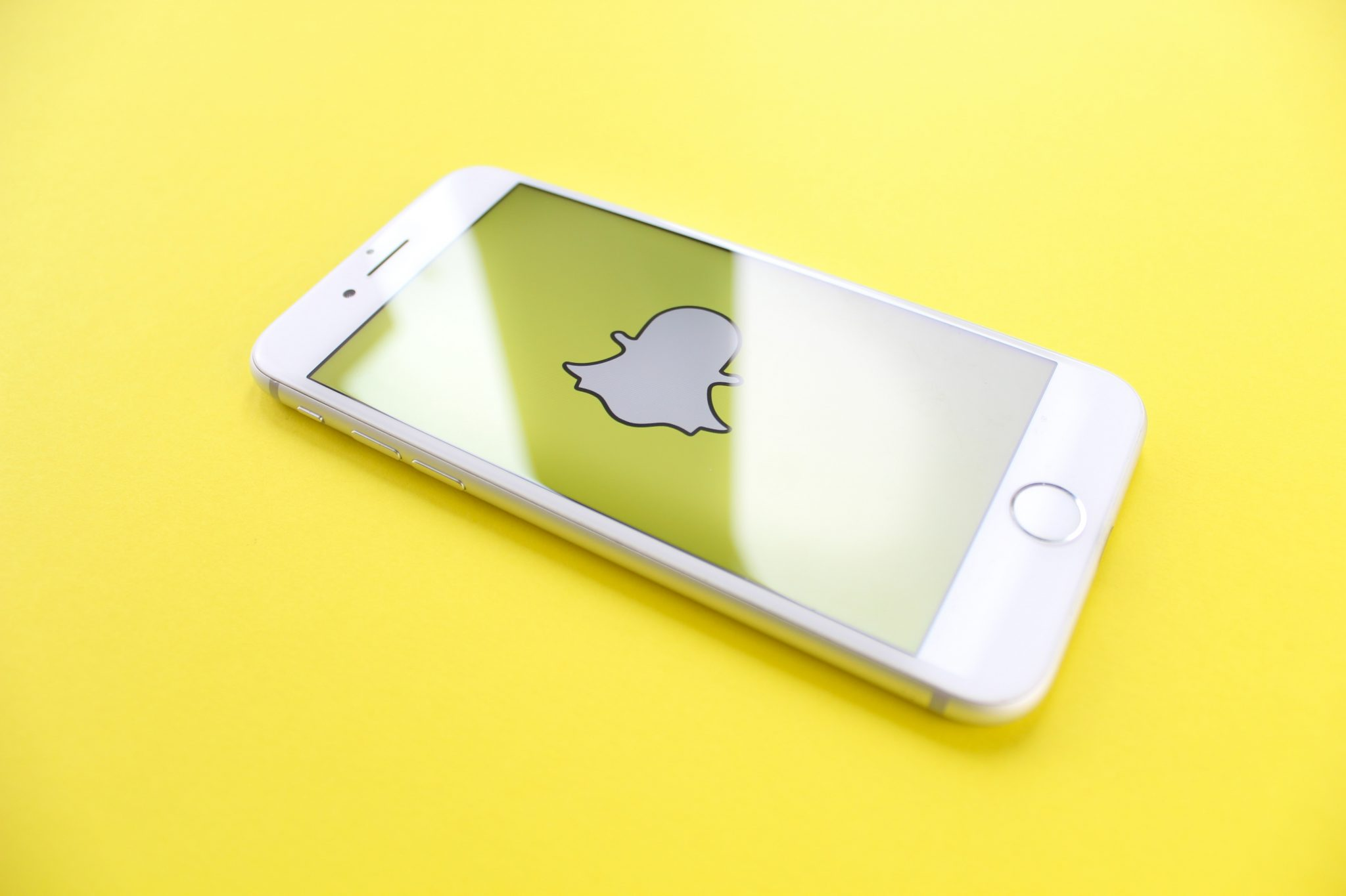 logo de l'application Snapchat dans un iPhone