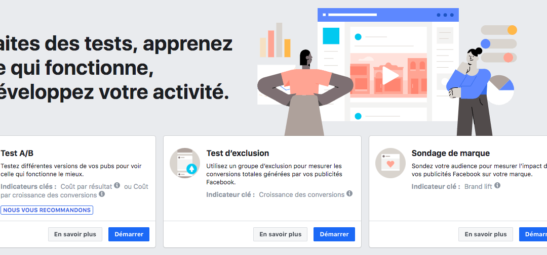Facebook Experiments, le nouvel outil de test de Facebook Ads