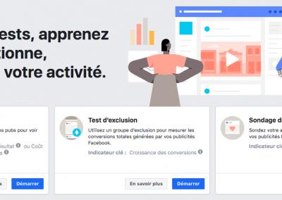 Facebook Experiments, le nouvel outil de test de Facebook Ads